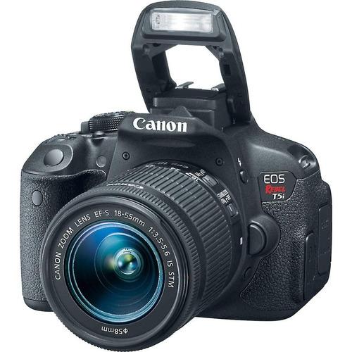 câmera canon eos t5i+18-55+bolsa+tripé+32gb+parasol em sp