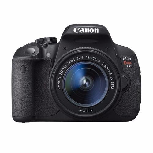 câmera canon eos t5i + lente 18-55mm +bolsa + 32gb+tripé+nf