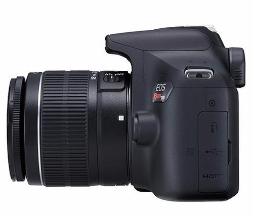 câmera canon eos t6 lente 18-55m+cartão 32gb+ bolsa + tripé