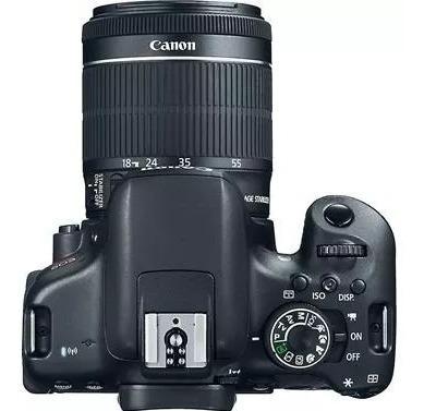 câmera canon eos t6i+18-55+bolsa+tripé+32gb + nfe