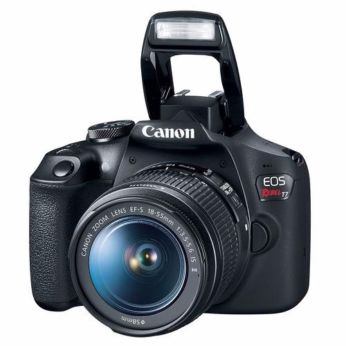 câmera canon eos t7+18-55+bolsa+tripé+32gb+filtro nfe re.aut
