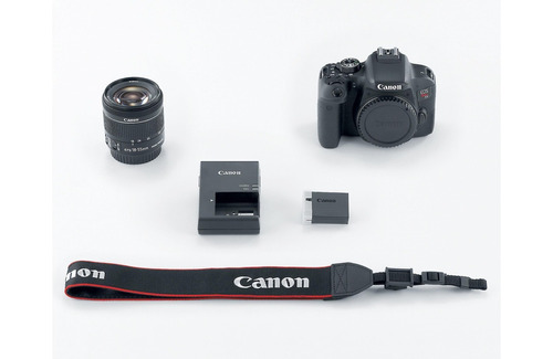 câmera canon eos t7i+18-55+bolsa+tripé+32gb+filtro com nf-e