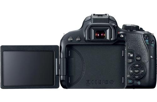 câmera canon eos t7i+18-55+bolsa+tripé+32gb+filtro envio hj!