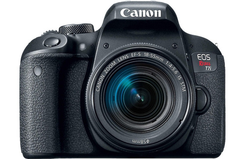 câmera canon eos t7i+18-55+bolsa+tripé+32gb pta entrega nf-e