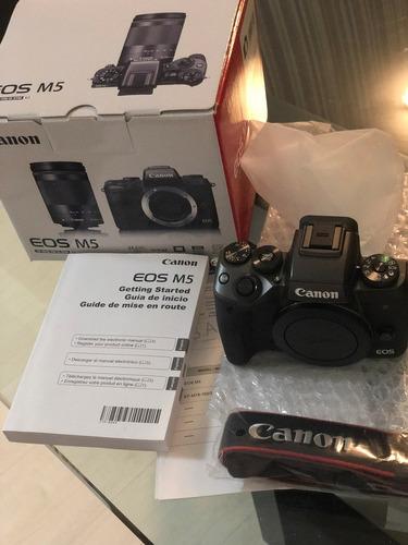 câmera canon m5 mirrorless - apenas o corpo - garantia + nf
