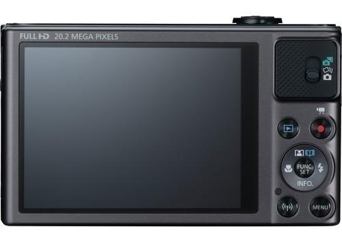 câmera canon powershot sx620 hs 20.2mp 25x zoom preta