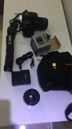 câmera canon rebel t3i + 1 lente 18-55 + 1 lente 50mm 1.8