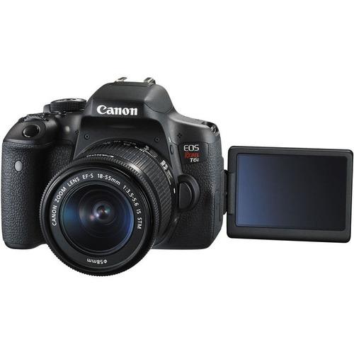 câmera canon rebel t6i premium + lente 18-55 + 55-250 + nf-e