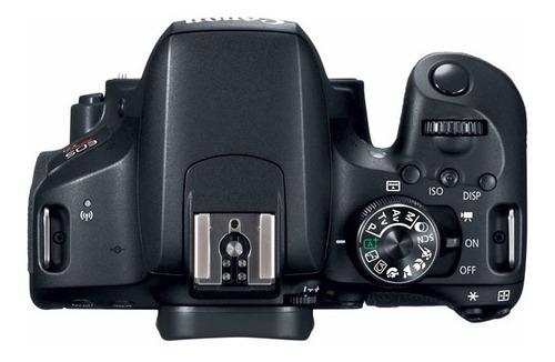 câmera canon rebel t7i c/ 18-55mm+ 64gb+ bolsa+ tripé+ nf-e