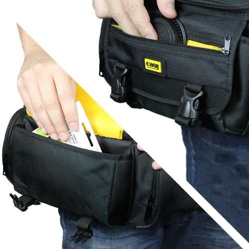 câmera com bolsa