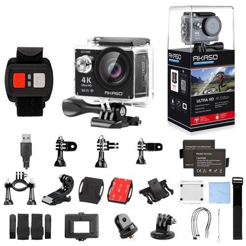 câmera de ação 4k ultra hd akaso wireless prova d'água 12mp