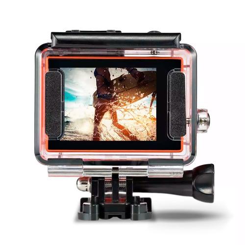 câmera de ação atrio dc185 fullsport 4k tela lcd usb sd wifi