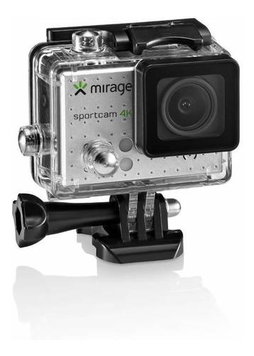 cãmera de ação mirage sport 4k + cartão 16gb