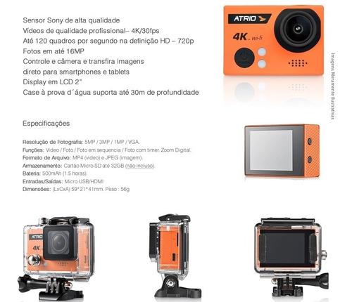 câmera de ação resolução 4k atrio tela 2.0 wifi gopro dc185