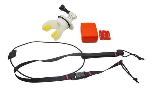câmera de ação surf boca mount para gopro hero 7 5 6 4 black