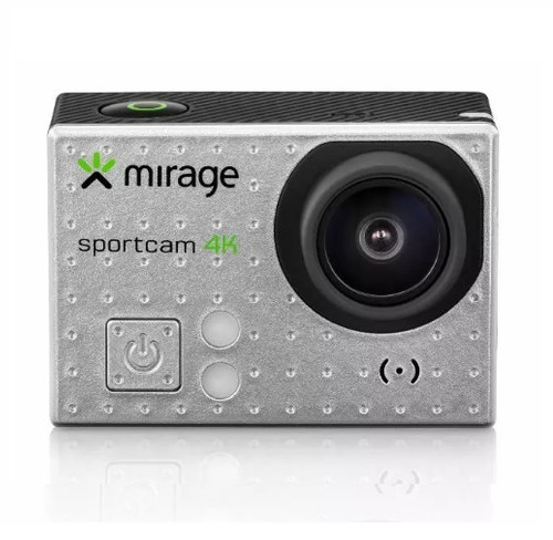 câmera de ação wi-fi  4k mirage + cartão de memória 16gb
