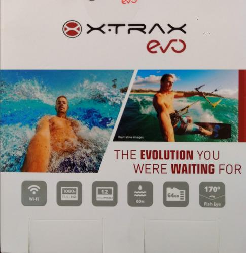 câmera de ação xtrax evo full hd, wi-fi, 12mp,  nova!