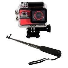 câmera de aventura xtrax smart 4k + bastão xtrax