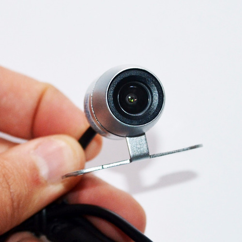 câmera de ré 2 em 1 - colorida com visão noturna - cor prata