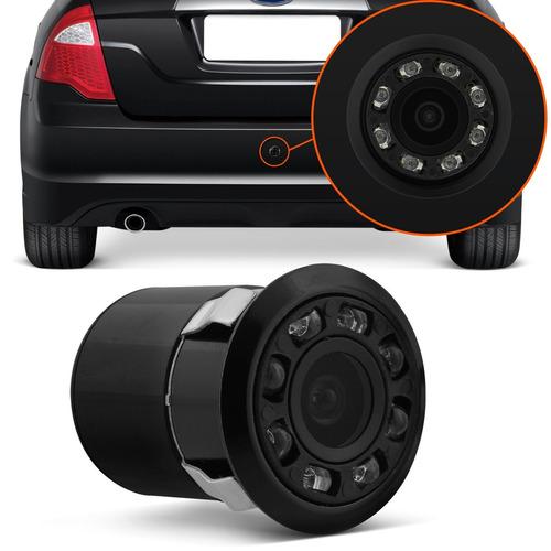 câmera de ré infravermelho automotivo parachoque colorida