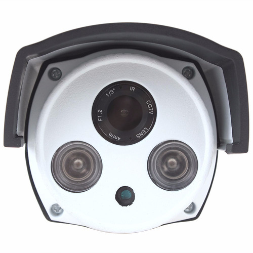 câmera de segurança a hd full 720p 2 led array 3.6mm
