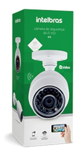 câmera de segurança intelbras wifi hd externa ic5, branca