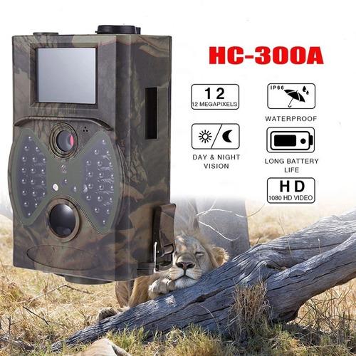 câmera de trilha hc300a visão noturna armadilha fotográfica
