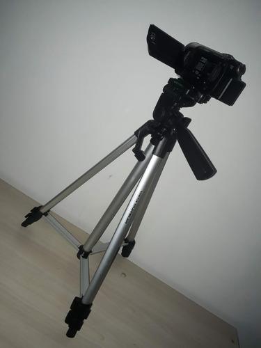 câmera de vídeo + tripe