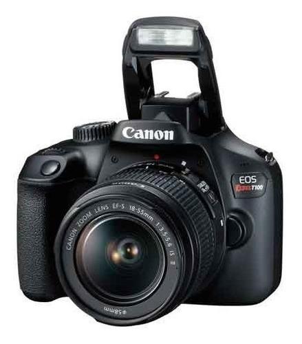 câmera digital canon eos rebel dslr t100 ef-s 18-55mm stm