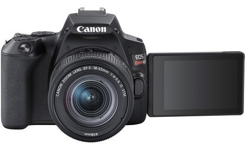 câmera digital canon eos rebel sl3 dslr lente 18-55mm brasil