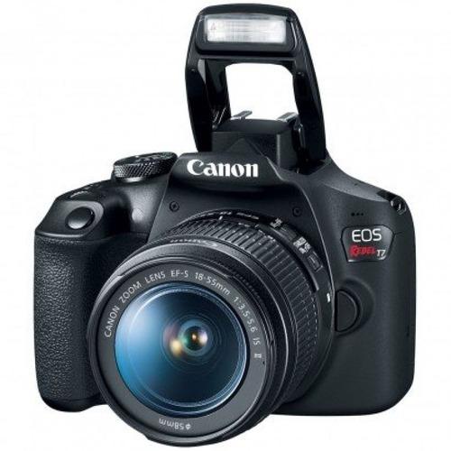 câmera digital canon eos rebel t7, ef-s 18-55mm is ii 24.1mp