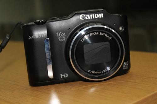 câmera digital canon powershot sx160 is - 16mp hd