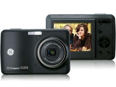 câmera digital ge c1233 12.1mp, lcd 2.4 , zoom óptico 3x