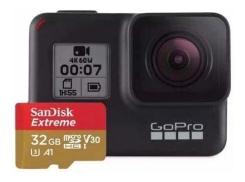 câmera digital gopro hero 7 black 12mp 4k original + sd32gb