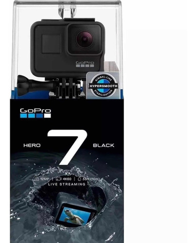 câmera digital gopro hero 7 black 4 k lacrada