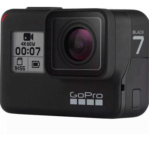 câmera digital gopro hero 7 black 4k+sd 32 gb+bastão