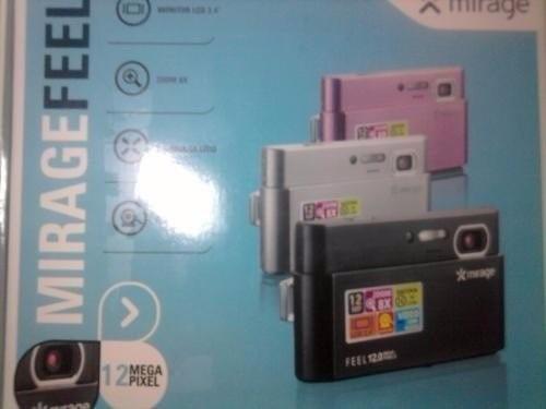 câmera digital mirage feel / na caixa / sem bateria