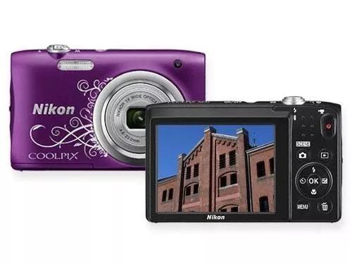 câmera digital nikon coolpix a100 2.7 20.1mp zoom 5x
