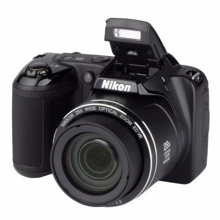 câmera digital nikon coolpix l-340 20.2 mp zoom 28x filma hd