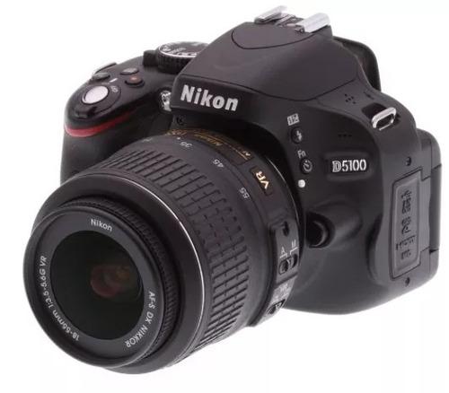 câmera digital nikon slr d5100+ lente nikkor 18-55mm