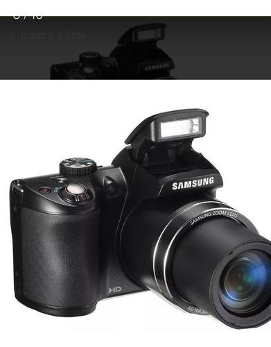 câmera digital profissional samsung com acessórios