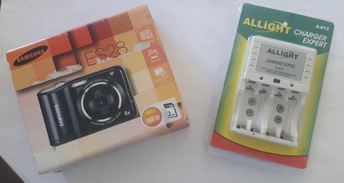 câmera digital samsung es28 com acessórios de brinde