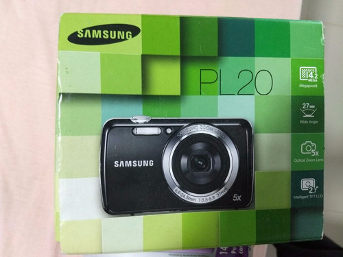 câmera digital samsung pl20 14.2 mp 5x de zoom!