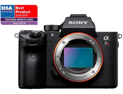 câmera digital sony alpha 7riii (corpo) full frame 42.4 mega