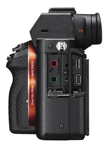 câmera digital sony alpha 7sii (corpo) full frame 12.2 megap