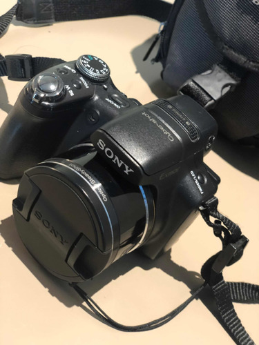 câmera digital sony cyber-shot + lente da câmera
