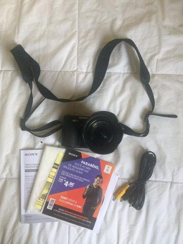 câmera digital sony nex-3 16.2mp lentes 18-55mm + cartão 8gb