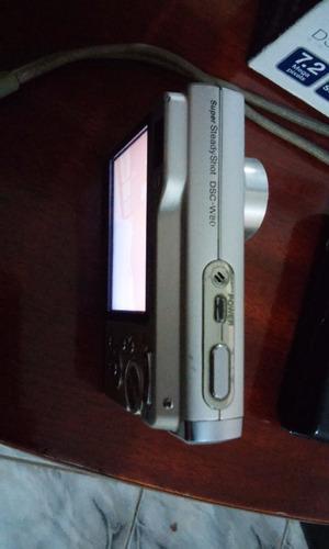 câmera digital sony w80 7.2 mp  cartão, +mais nova do brasil