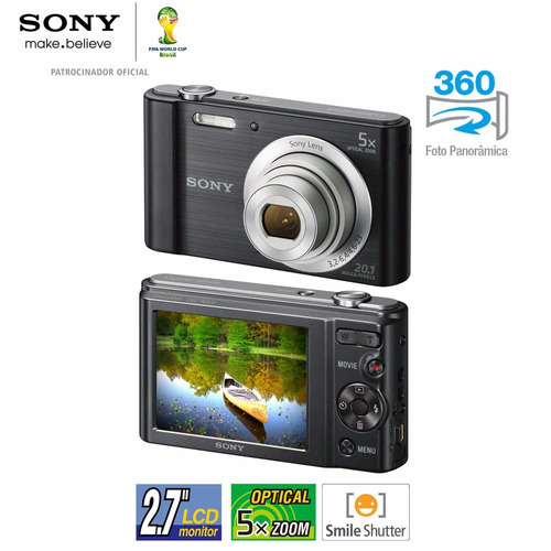 câmera digital sony w800 cyber shot 20.1 mp menu inglês/espa