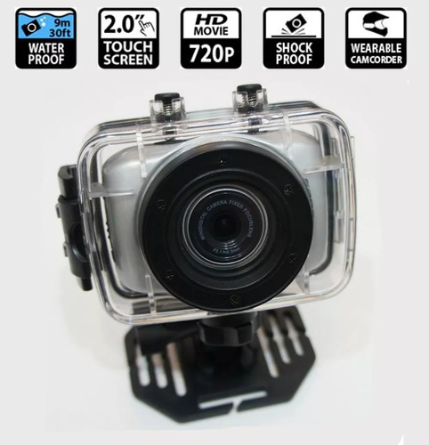 câmera digital sports action camcorder 720p hd